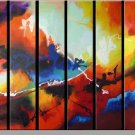 Modern contemporary oil paintings on canvas abstract painting set 729