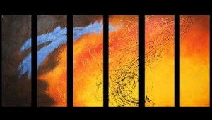 Modern contemporary oil paintings on canvas abstract painting set 735