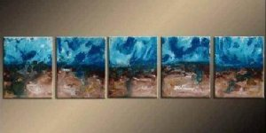 Modern contemporary oil paintings on canvas abstract painting set 741