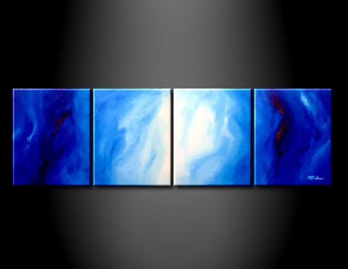 100% handmade Art deco Modern abstract oil paintings on Canvas set 09001