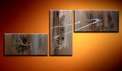 100% handmade Art deco Modern abstract oil paintings on Canvas set 09009
