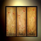 100% handmade Art deco Modern flower oil paintings on Canvas set 09013