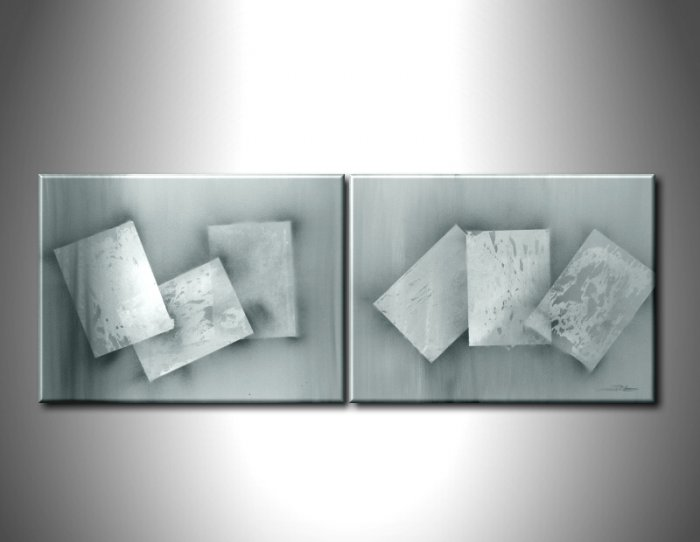 100% handmade Art deco Modern abstract oil paintings on Canvas set 09015