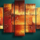 100% handmade Art deco Modern abstract oil paintings on Canvas set 09022