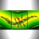 100% handmade Art deco Modern abstract oil paintings on Canvas set 09029