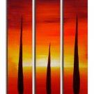 Handmade Art deco Modern sunset glow oil painting on Canvas set 09031