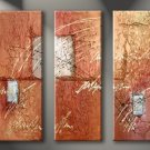 Handmade Art deco Modern abstract oil painting on Canvas set 09032
