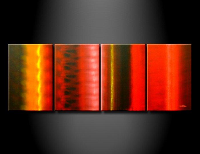 Handmade Art deco Modern abstract oil painting on Canvas set 09043