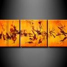 Handmade Art deco Modern abstract oil painting on Canvas set 09044