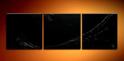 Handmade Art deco Modern abstract oil painting on Canvas set 09046