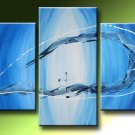 Handmade Art deco Modern abstract oil painting on Canvas set 09048