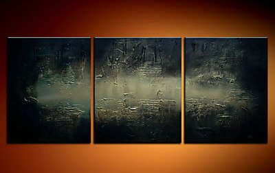 Handmade Art deco Modern abstract oil painting on Canvas set 09050
