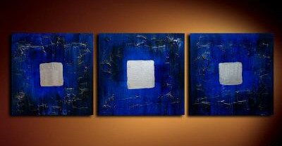 Handmade Art deco Modern abstract oil painting on Canvas set 09052