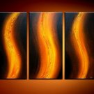 Handmade Art deco Modern abstract oil painting on Canvas set 09054