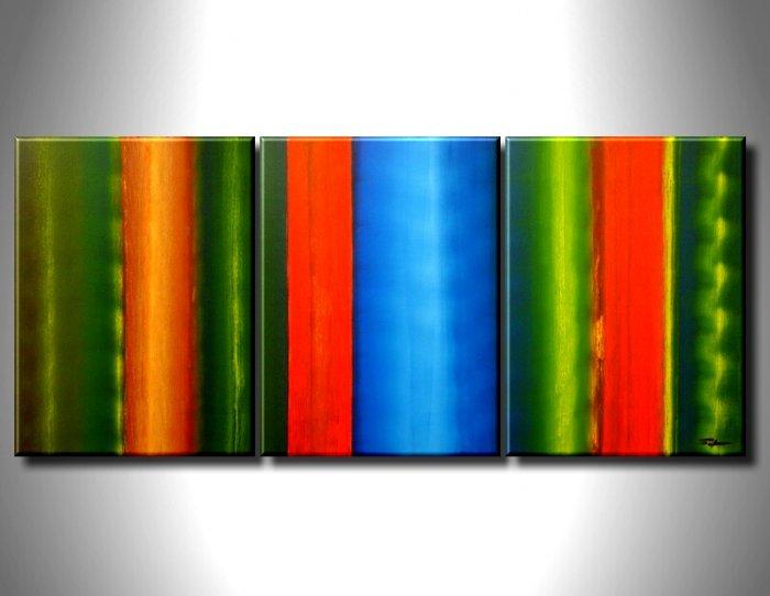 Handmade Art deco Modern abstract oil painting on Canvas set 09057