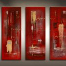 Handmade Art deco Modern abstract oil painting on Canvas set 09064