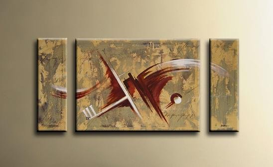 Handmade Art deco Modern abstract oil painting on Canvas set 09066