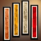 Handmade Art deco Modern abstract oil painting on Canvas set 09199