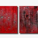 Handmade Art deco Modern abstract oil painting on Canvas set 09230