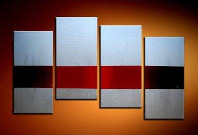 Handmade Art deco Modern abstract oil painting on Canvas set 09233
