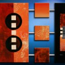 Handmade Art deco Modern abstract oil painting on Canvas set 09194