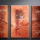 Handmade Art deco Modern abstract oil painting on Canvas set 09076