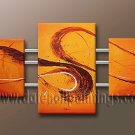Handmade Art deco Modern abstract oil painting on Canvas set 09077