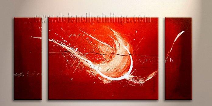 Handmade Art deco Modern abstract oil painting on Canvas set 09078