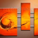 Handmade Art deco Modern abstract oil painting on Canvas set 09089