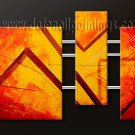 Handmade Art deco Modern abstract oil painting on Canvas set 09096