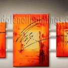 Handmade Art deco Modern abstract oil painting on Canvas set 09097