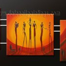 Handmade Art deco Modern abstract oil painting on Canvas set 09102