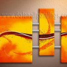 Handmade Art deco Modern abstract oil painting on Canvas set 09103