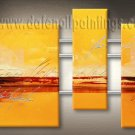 Handmade Art deco Modern abstract oil painting on Canvas set 09106