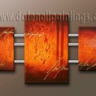 Handmade Art deco Modern abstract oil painting on Canvas set 09107