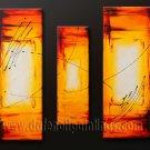 Handmade Art deco Modern abstract oil painting on Canvas set 09117