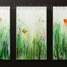 Handmade Art deco Modern abstract oil painting on Canvas set 091168