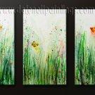 Handmade Art deco Modern abstract oil painting on Canvas set 091168