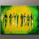 Handmade Art deco Modern abstract oil painting on Canvas set 09124