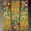 Handmade Art deco Modern abstract oil painting on Canvas set 09126