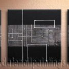 Handmade Art deco Modern abstract oil painting on Canvas set 09130