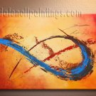 Handmade Art deco Modern abstract oil painting on Canvas set 09133