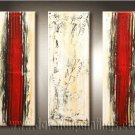 Handmade Art deco Modern abstract oil painting on Canvas set 09140