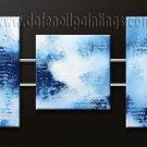 Handmade Art deco Modern abstract oil painting on Canvas set 09142