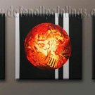 Handmade Art deco Modern abstract oil painting on Canvas set 09143