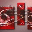 Handmade Art deco Modern abstract oil painting on Canvas set 09146