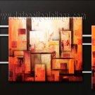 Handmade Art deco Modern abstract oil painting on Canvas set 09151