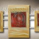 Handmade Art deco Modern abstract oil painting on Canvas set 09154