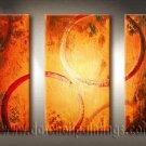Handmade Art deco Modern abstract oil painting on Canvas set 09166
