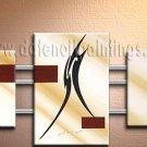 Handmade Art deco Modern abstract oil painting on Canvas set 09172